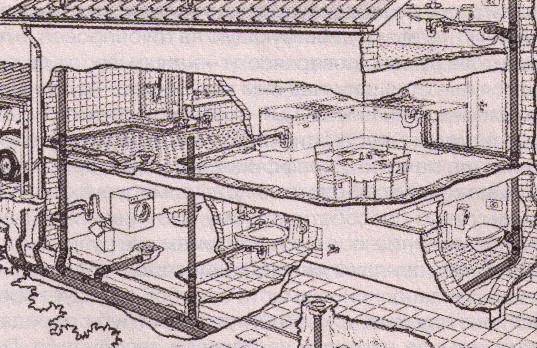 Схема водоотведения внутренней.